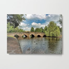 5 Arches of Bakewell Bridge Metal Print