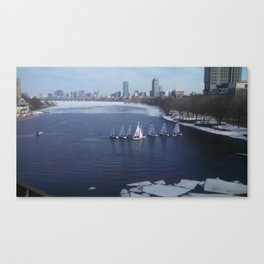 Boating on the Charles River Canvas Print