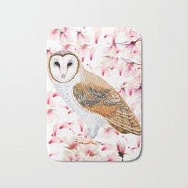 Cherry Owl Bath Mat