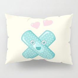 Pastel Happy Plaster Pillow Sham