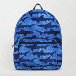 Sharks in the Blue, Blue Sea Backpack