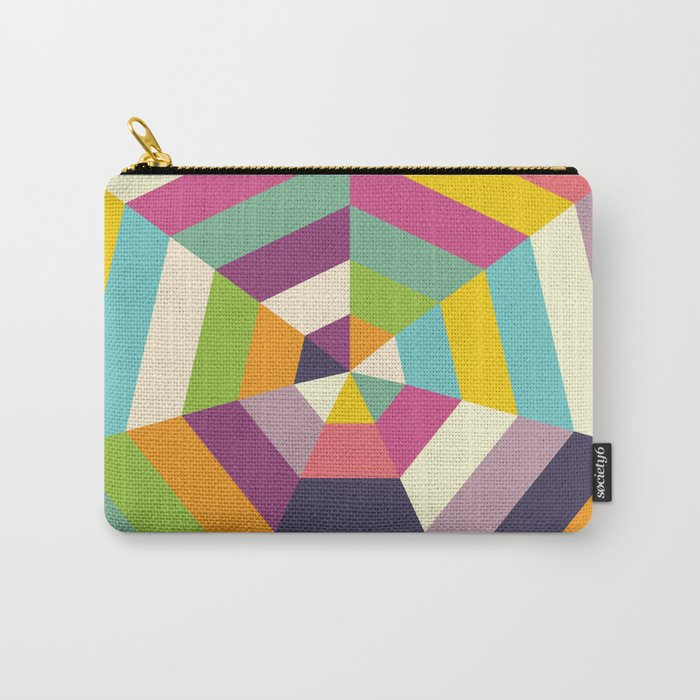 Heptagon Quilt 1 Carry-All Pouch