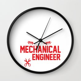 have no fear the engineer is here no fear ing Wall Clock