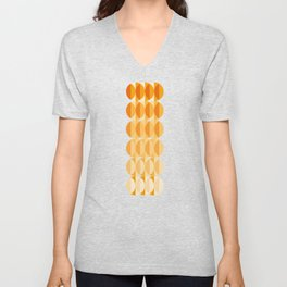 Leaves at autumn - a pattern in orange and brown Unisex V-Neck