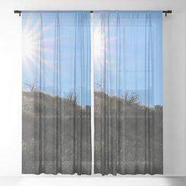 Mountainside for the Sun Sheer Curtain