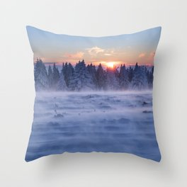 Freezing But Breathtaking Experience Throw Pillow