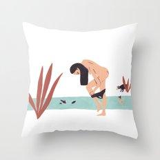 Fia & Ferina: Swimming Throw Pillow