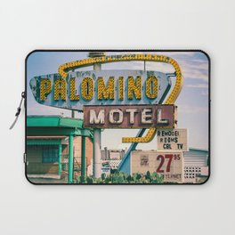 Palomino Motel Vintage Neon Sign in Tucumcari New Mexico along Route 66 Laptop Sleeve