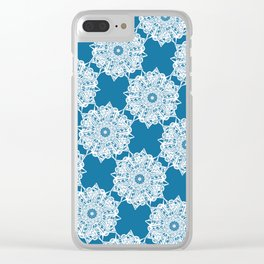 Gorgeous Lace Snow Pattern Clear iPhone Case