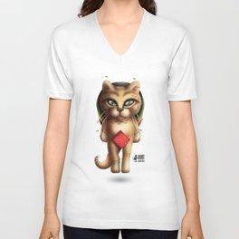 Rastaman Cat Unisex V-Neck
