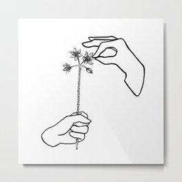 Plucking petals Metal Print