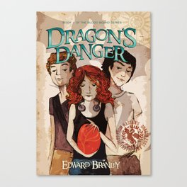 Dragon's Danger Book Cover Canvas Print