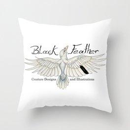Black Feather Studios Throw Pillow