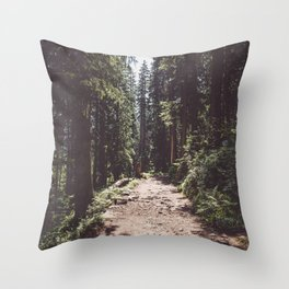 Entering the Wilderness - Landscape and Nature Photography Throw Pillow