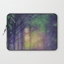 Magical forest watercolor painting Laptop Sleeve
