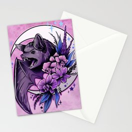Bat and Orchids Stationery Cards