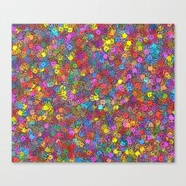 Color handprints Canvas Print