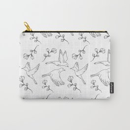 Little Birds With Leaves Pattern  Carry-All Pouch