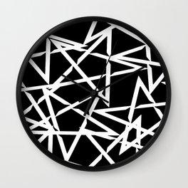Interlocking White Star Polygon Shape Design Wall Clock