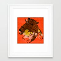 wolves Framed Art Prints featuring Wolves by Sarah Howell