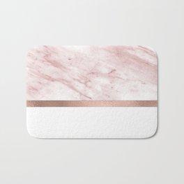 Minimalist rose gold glam Bath Mat