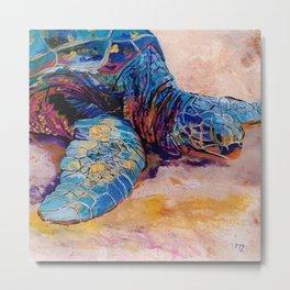 Turtle at Poipu Beach 6 Metal Print