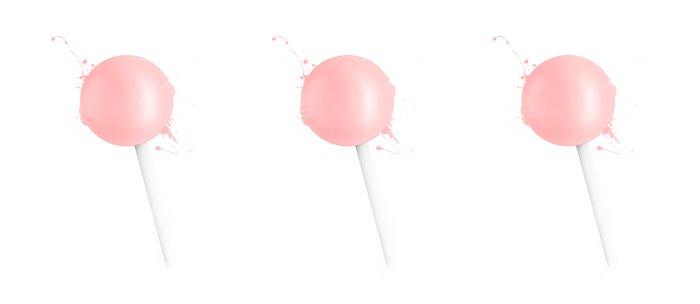 Splashed Pink Lollipop Coffee Mug