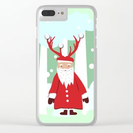 Undercover Santa Clear iPhone Case