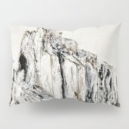Abstract Landscape Painting Shiprock black white geometric Pillow Sham