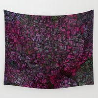 maps Wall Tapestries featuring Fantasy City Maps 1 by MehrFarbeimLeben