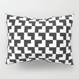 Black and White Tessellation Pattern - Graphic Design Pillow Sham