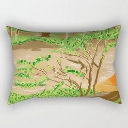 Pam at the Lao River Rectangular Pillow