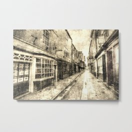 The Shambles York Vintage Metal Print