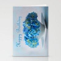 hydrangea Stationery Cards featuring Hydrangea by Fine Art by Rina