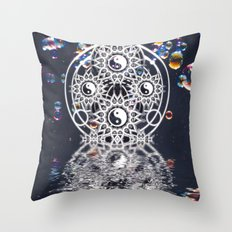 Yin Yang Symmetry Balance Reflection Throw Pillow