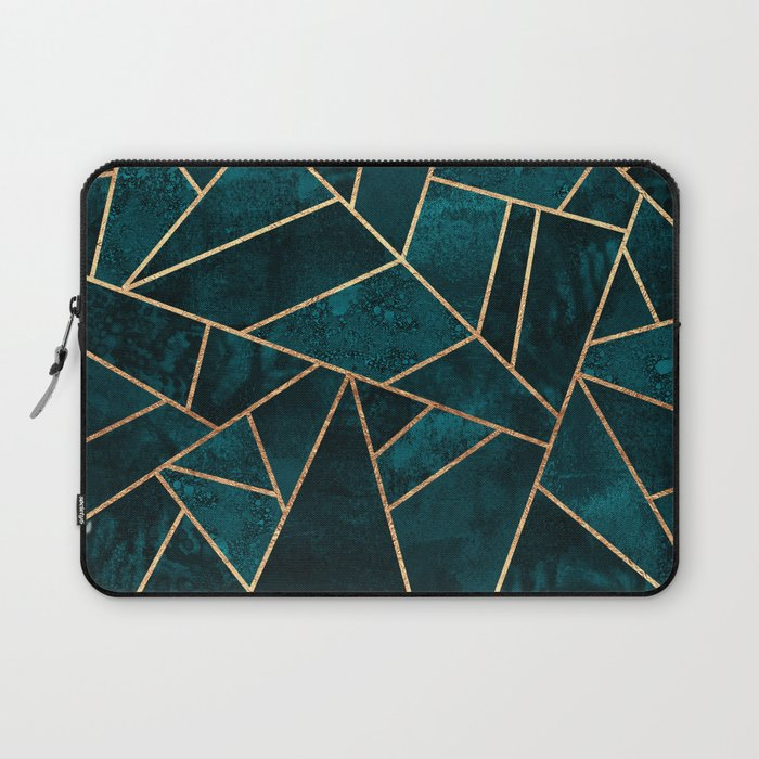 Deep Teal Stone Laptop Sleeve