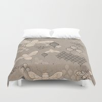 bee Duvet Covers featuring Bee  by louiseharding