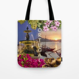 Montage Portugal Tote Bag