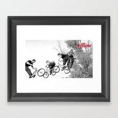 Offline I Framed Art Print