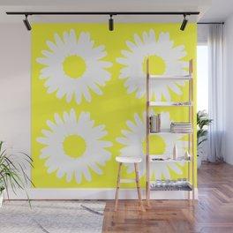 Yellow Daisy Bouquet Wall Mural