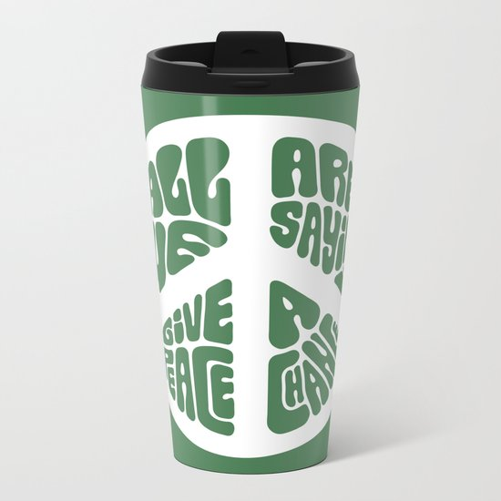 Peace Metal Travel Mug