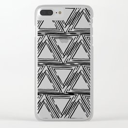 Linear Triangle Pattern Clear iPhone Case