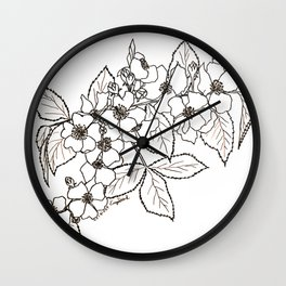 Vine Roses Wall Clock