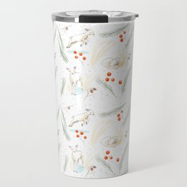 Wintertime Lambs at Play Travel Mug