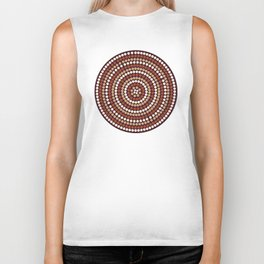 seamless background in abstract aboriginal style Biker Tank