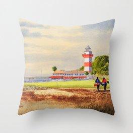 Harbour Town Golf Course SC Throw Pillow