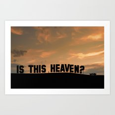 Is this heaven - Hollywood sign Art Print