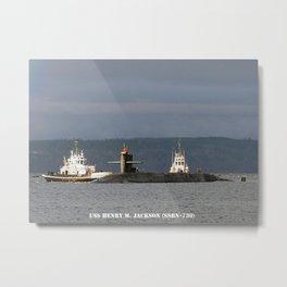 USS HENRY M. JACKSON (SSBN-730) Metal Print