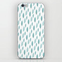 Turquoise Leaves iPhone Skin