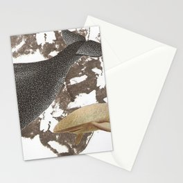 whale away Stationery Cards